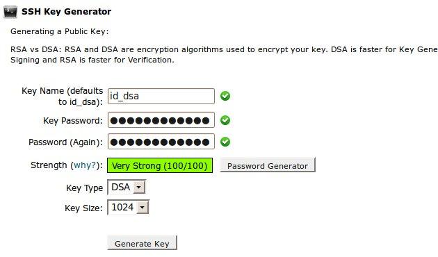 SSH generate keypair