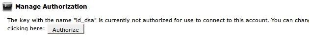 SSH manage authorization