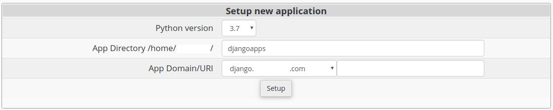 Setup Python App