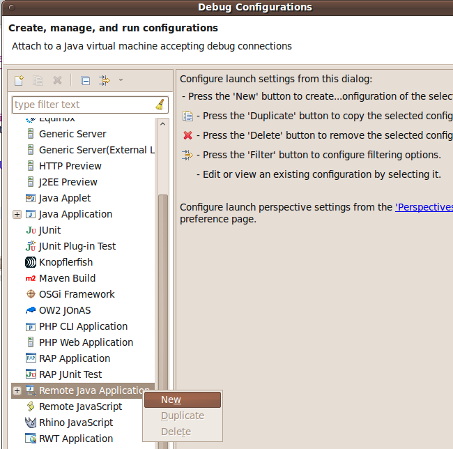 Remote Java debugging with Eclipse